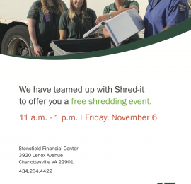 Shred-it with C&F Bank
