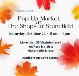 Pop-Up Market Craft Cville (October 23)