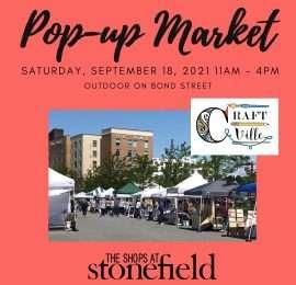 Pop-Up Market Craft Cville (September 18)
