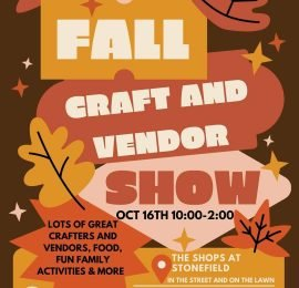 Fall Craft and Vendor Show (October 16)